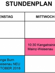Neuer STUNDENPLAN ab September